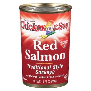 Chicken of the Sea Traditional Style Sockeye Red Salmon 14.75-oz.