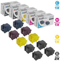 LD Compatible Replacements for Xerox 10PK Ink Sticks Includes:4 108R00929 Black, 2 108R00926 Cyan, 2 108R00927 Magenta, & 2 108R00926 Yellow for use in Xerox ColorQube 8570DN, 8570DT, & 8570N