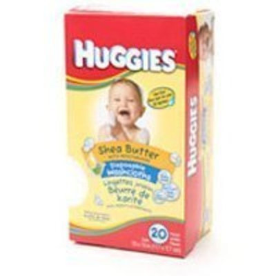 Huggies Disposable Baby Washcloths, Shea Butter with Moisturizers - 20 Count