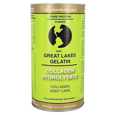 Great Lakes Gelatin, Collagen Hydrolysate, Beef, Kosher, 16 oz, 4 Pack [4 Pack]