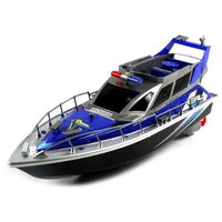 airsoftrc Electric Full Function 4CH Police Patrol Cruiser RTR RC Boat (Colors May Vary)