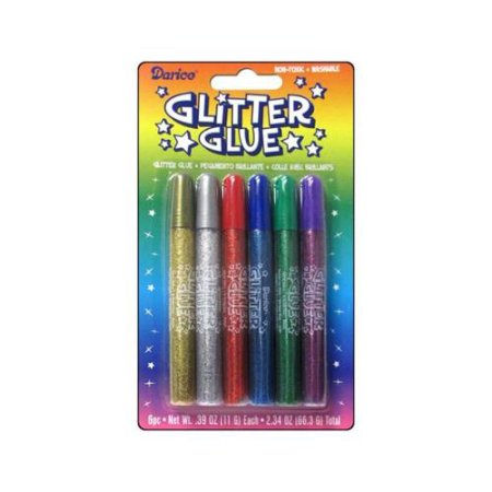 Darice & Catan Floral DARCHGG Glitter Glue Pens Assorted Colors Pack Of 3
