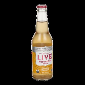LIVE Kombucha Soda Sparkling Ginger