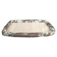 Boots & Barkley Lrg Bolster Crate mat - Flower Silhouette Brown