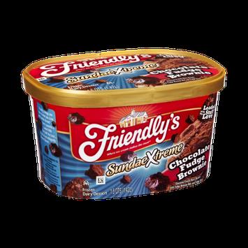 Friendly's SundaeXtreme Chocolate Fudge Brownie Frozen Dairy Dessert