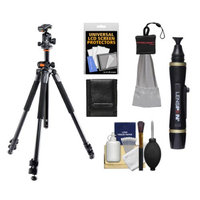Vanguard Alta Pro 263AT Aluminum Alloy Tripod with Multiple Angle Central Column and Case with Vanguard SBH-100 Ball Head + Accessory Kit
