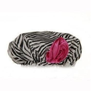 Bella Il Fiore Bath Diva Shower Cap, Zebra, 3 Ounce