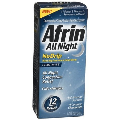 Afrin No Drip, All Night, 15ml Pumps (Pack of 3)