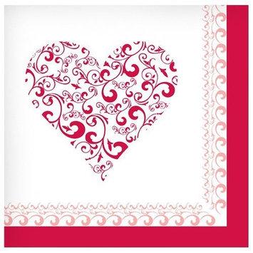 Hanna K Signature Hanna K. Signature 97020 Lunch Napkin Valentine Heart - 1728 Per Case