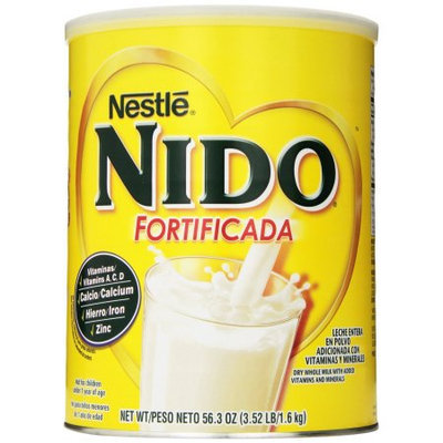 Nido Dry Milk, Whole, Nido Fortificada, 3.52 LB (Pack of 6)