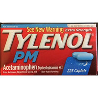Extra Strength Tylenol Pm 225 Caplets Each, 2 Boxes Included