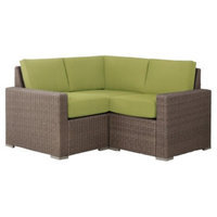 Outdoor Patio Furniture Set: Threshold 3 Piece Lime Green Wicker
