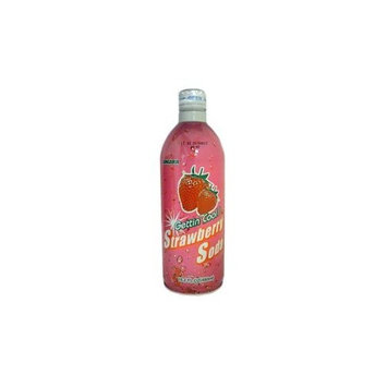 Sangaria Ramune Soft Drink Strawberry Flavor 6 Pack of 480 ml Cans