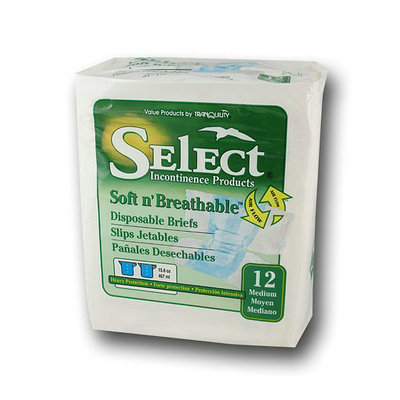 Tranquility Select Soft N' Breathable Disposable Briefs
