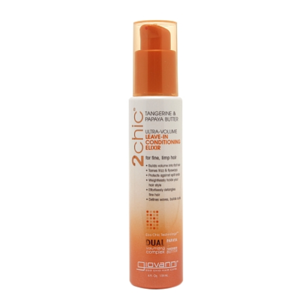 Giovanni 2chic Tangerine & Papaya Butter Ultra-Volume Leave-In Conditioning Elixir