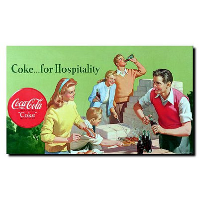 Trademark Global Coke for Hospitality Stretched Canvas Art