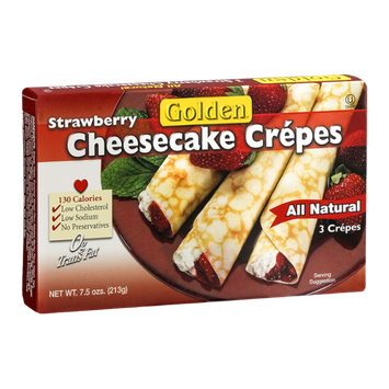 Golden Strawberry Cheesecake Crepes - 3 CT