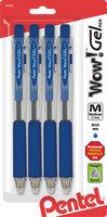 Pentel Of America K437CRBP4C Gel Colors Clear Body Retractable Gel Pen Blue - 0.7mm.