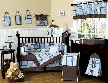 Jojo Designs, Llc. Sweet Jojo Designs Geo Blue 9-piece Crib Bedding Set