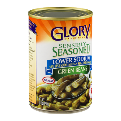 Glory Foods Sensibly Seasoned Green Beans Lower Sodium