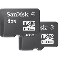 SanDisk Corporation SanDisk 8GB Class 4 microSDHC Memory Card, 2 Pack