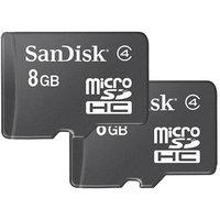 SanDisk Corporation SanDisk 8GB Class 4 microSDHC Memory Card, 2 Pack