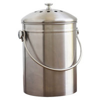 Natural Home 1.3 Gallon Stainless Steel Compost Bin with Filter -