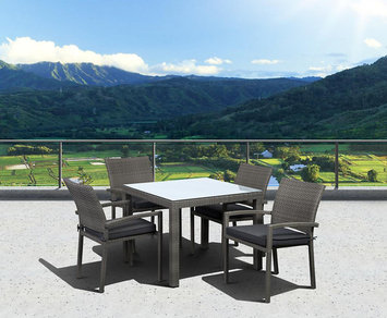 Allen + Roth allen + roth Woodwinds 86.3-in x 37.5-in Wood Rectangular Patio Dining Table