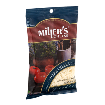 Miller's Cheese Natural Mozzarella Cheese Shredded