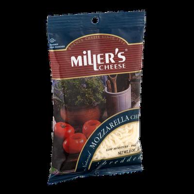 Miller's Cheese Natural Mozzarella Cheese Shredded
