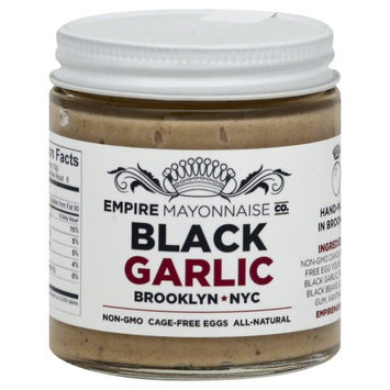 Empire Mayonnaise Co. Hand Made Mayonnaise Black Garlic 4 oz