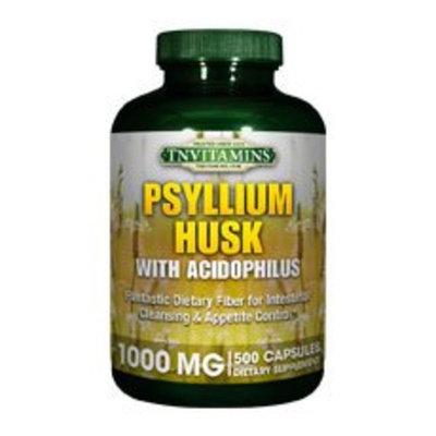 TNVitamins Psyllium Husk 1000 Mg Capsules - 500 Capsules