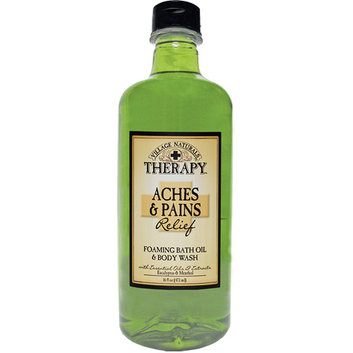 Village Naturals Therapy Aches & Pains Relief Foaming Bath Oil & Body Wash