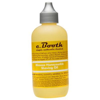 c. Booth Shaving Oil, Mimosa Honeysuckle, 4 fl oz