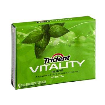 Trident Vitality Rejuve Mint and White Tea Sugar Free Gum - 9 CT