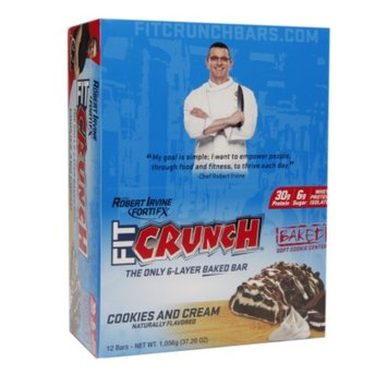 FortiFx Chef Robert Irvine Fit Crunch Bar Cookies & Cream