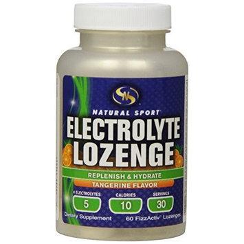 Natural Sport Electrolyte Lozenge Replenish & Hydrate Tangerine Flavor 60 FizzActiv Lozenges