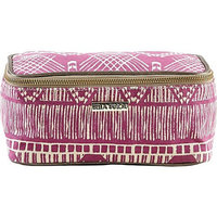 Bella Taylor Tahiti Fuchsia Cosmetic Case Makeup Bag Overnight Kit Travel 4x8x4.5'