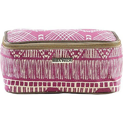 Bella Taylor Tahiti Fuchsia Cosmetic Case Makeup Bag Overnight Kit Travel 4x8x4.5'