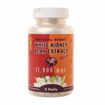 Natural Sport White Kidney Bean Extract - 1000 mg - 90 Vegetarian Capsules