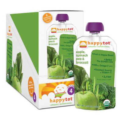 Happy Tots Organic Superfood Broccoli, Spinach, Pea & Apple
