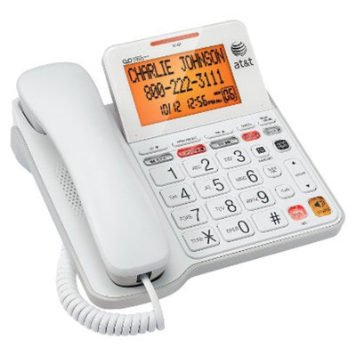 AT&T Corded Answering System (CL4940) with Large Tilt Display, 1