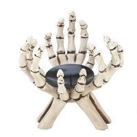 Eastwind Gifts 10017192 Skeleton Hands Candle Stand