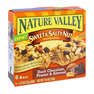 Nature Valley Sweet & Salty Nut Dark Chocolate, Peanut & Almond