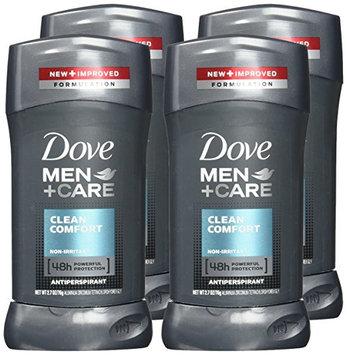 Dove Men+Care Clean Comfort Antiperspirant Stick 2.7 Oz 4 Ct