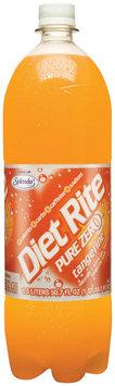 Diet Rite Pure Zero Tangerine Diet Soda 1.5 L Plastic Bottle