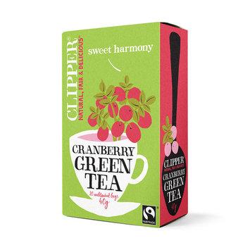 Clipper Fairtrade Green Tea with Cranberry