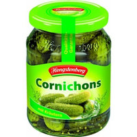 Hengstenberg Cornichons Jar, 12.5-Ounce Jars (Pack of 12)