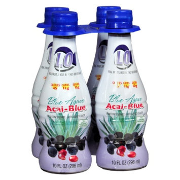 Lo Real Fruit Juice Blend Beverage, 10 oz Bottles, Blue Agave Acai-Blue, 4 ea