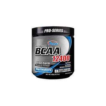 ANSI Advanced Nutrient Science - Instantized BCAA Powder 12400 Blue Raspberry - 450 Grams